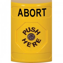 SS2200AB-EN STI Yellow No Cover Key-to-Reset Stopper Station with ABORT Label English