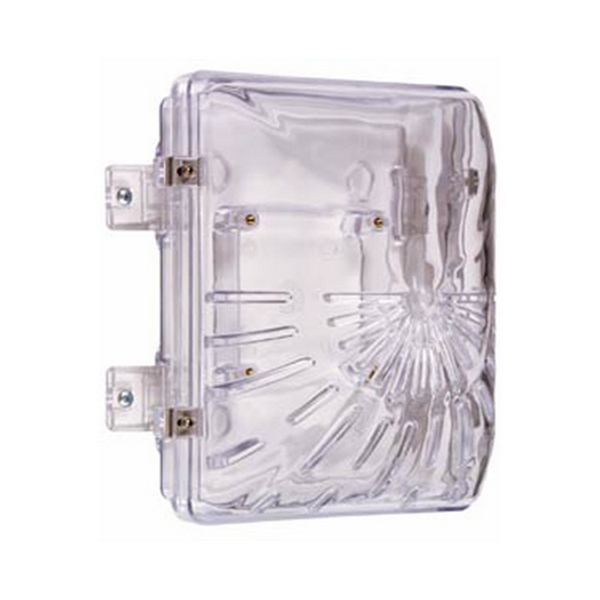 STI-1210B STI Horn/Strobe Damage Stopper with Double Gang Outlet Box - Clear