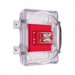 STI-1221B STI Strobe Damage Stopper with Enclosed Back Box with Double Gang Outlet Box - Clear