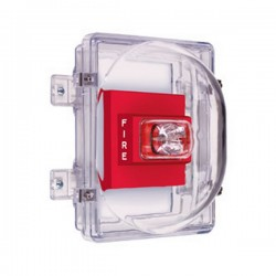 STI-1221C STI Strobe Damage Stopper with Open Back Box with External Mounting Tabs - Clear