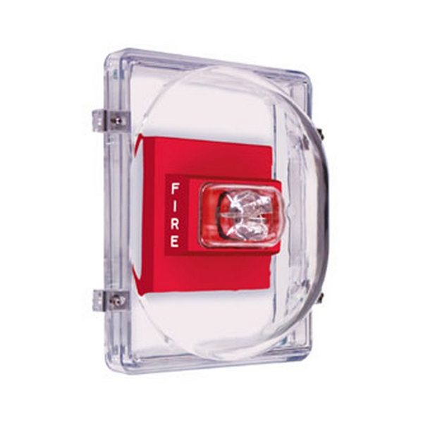 STI-1221E STI Strobe Damage Stopper with Open Back Box for Flush Mount - Clear