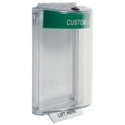 STI-13010CG STI Universal Stopper without Horn Flush - Custom Label Included - Green