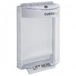 STI-13010CW STI Universal Stopper Dome Cover Flush Mount and Hood - Custom Label - White - Non-Returnable