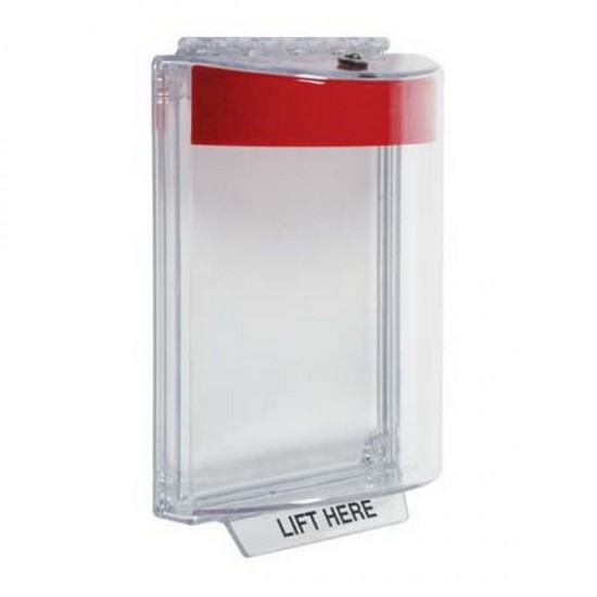 STI-13010NR STI Universal Stopper without Horn Flush - No Label Included - Red