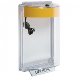 STI-13030NY STI Universal Stopper with Horn & Relay Flush Mount - No Label Included - Yellow