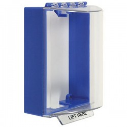 STI-13200NB STI Universal Stopper without Horn Housing Surface Mount - No Label Included - Blue