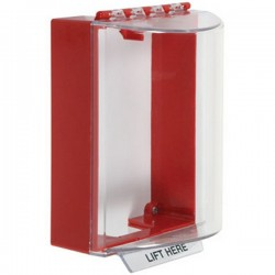 STI-13200NR STI Universal Stopper without Horn Housing Surface Mount - No Label Included - Red