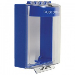 STI-13210CB STI Universal Stopper without Horn Surface Mount - Custom Label Included - Blue