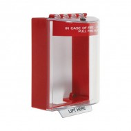 STI-13210FR STI Universal Stopper with Red Housing - Surface Mount - Fire - Red