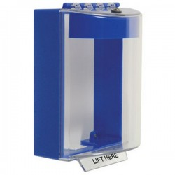 STI-13220NB STI Universal Stopper with Horn Surface Mount - No Label Included - Blue
