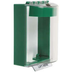 STI-13220NG STI Universal Stopper with Horn Surface Mount - No Label Included - Green