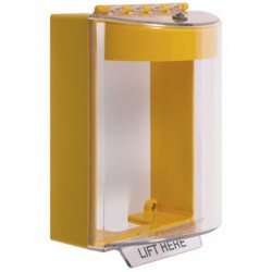 STI-13220NY STI Universal Stopper with Horn Surface Mount - No Label Included - Yellow