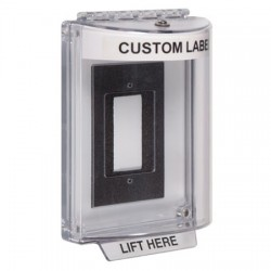 STI-13310CW STI Universal Stopper without Horn Enclosed Flush Back Box - Custom Label Included - White