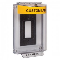 STI-13310CY STI Universal Stopper without Horn Enclosed Flush Back Box - Custom Label Included - Yellow