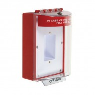 STI-13410FR STI Universal Stopper without Horn Enclosed Back Box Sealed Mounting Plate - Fire - Red