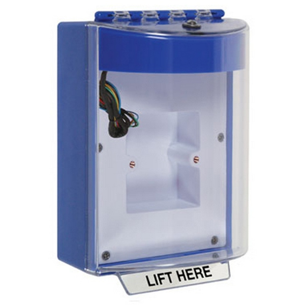 STI-13830NB STI Universal Stopper with Horn & Relay Enclosed Back Box & European Sealed Mounting Plate - No Label Included - Blue