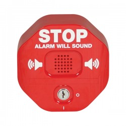 STI-6400 STI Exit Stopper Multifunction Door Alarm - Red