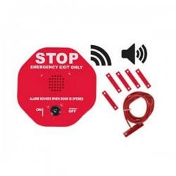 STI-6402WIR STI Wireless Exit Stopper Multifunction Door Alarm for Double Door - Red