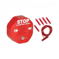 STI-6402 STI Exit Stopper Multifunction Door Alarm for Double Door - Red