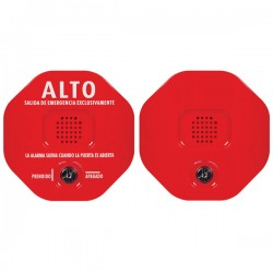STI-6403-ES STI Exit Stopper Multifunction Door Alarm with Remote Horn - Red - Spanish