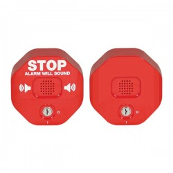 STI-6403 STI Exit Stopper Multi Function Door Alarm with Remote Horn - Red