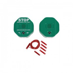 STI-6404-G STI Exit Stopper for Double Door with Remote Horn - Green