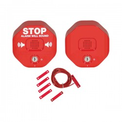 STI-6404 STI Exit Stopper for Double Door with Remote Horn - Red