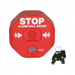 STI-6405 STI Exit Stopper Multifunction Door Alarm with Momentary Reset Option - Red