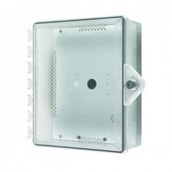 STI-7520 STI NEMA 4X Protective Cabinet with Backplate and Key Lock - Clear