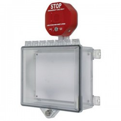 STI-7522 STI Polycarbonate Cabinet with Cabinet Stop Sign Alarm Key Lock - Clear
