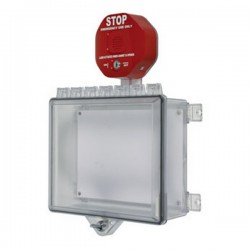 STI-7523 STI Polycarbonate Cabinet with Cabinet Stop Sign Alarm Thumb Lock - Clear