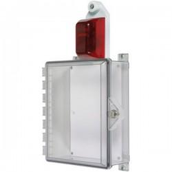 STI-7524 STI Protective Cabinet with Siren/Strobe Alarm, Key Lock - Clear