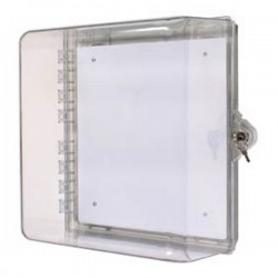 STI-7530 STI Polycarbonate Cabinet with Key Lock - Clear