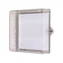 STI-7531 STI Protective Cabinet, Polycarbonate with Backplate and Thumb Lock - Clear