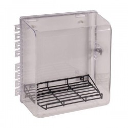 STI-7531MED STI Polycarbonate Cabinet with Wire Shelf & Thumb Lock