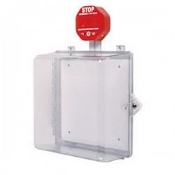 STI-7532 STI Polycarbonate Cabinet with Siren Alarm Key Lock - Clear