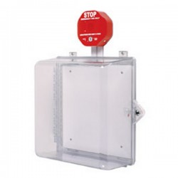 STI-7533 STI Polycarbonate Cabinet with Siren Alarm Thumb Lock - Clear
