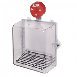 STI-7533MED STI Polycarbonate Cabinet with Wire Shelf, Siren Alarm & Thumb Lock
