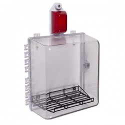 STI-7535MED STI Polycarbonate Cabinet with Wire Shelf, Siren/Strobe Alarm & Thumb Lock