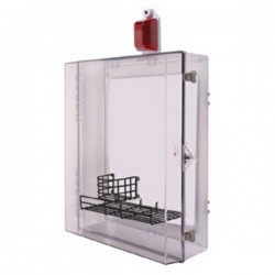 STI-7555AED STI AED Protective Cabinet with Siren/Strobe Alarm Thumb Lock - Clear