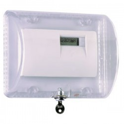 STI-9110 STI Thermostat Protector with Key Lock - Clear