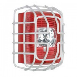 "STI-9705 STI Strobe Wire Guard - White - 7.40"" H x 6.15"" W x 3.39"" D"