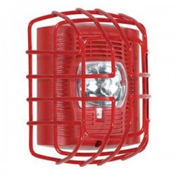 "STI-9705-R STI Strobe Wire Guard - Flush Mount - Red - 7.40"" H x 6.15"" W x 3.39"" D"