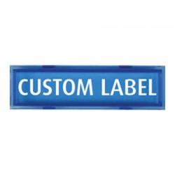 UB-1CL-B STI Custom Message Plate - Blue